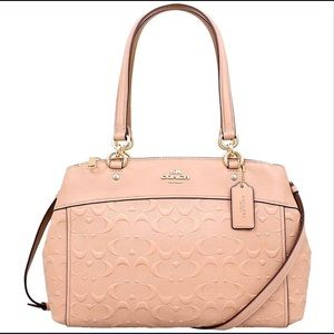 Coach Brooke Carryall Nude Pink Leather Handbag